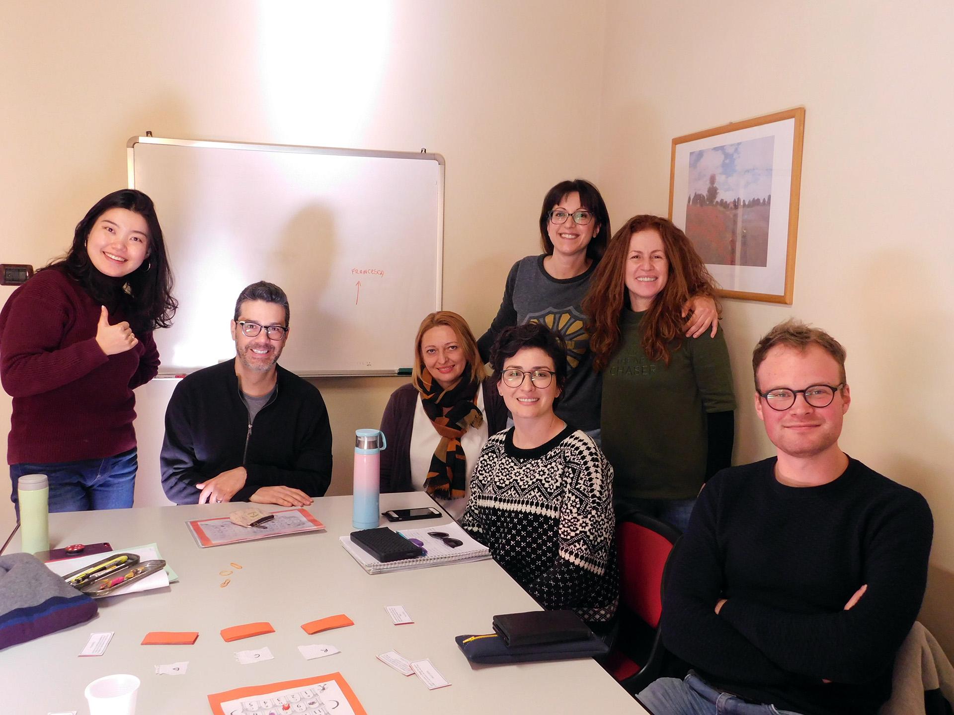 Studenti di lingua della scuola Parola di Firenze